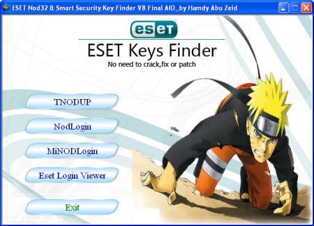 ������ ESET NOD32 Key Finder V8 ���� ������ �����