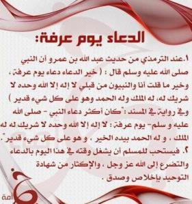 الدعاء في يوم عرفة Elghadas Blog
